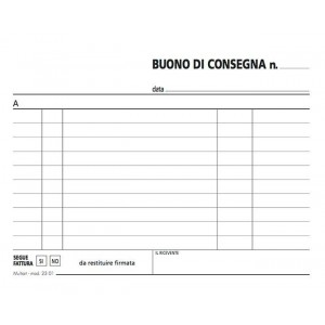 BUONI CONSEGNE 50X 2 COPIE  120X170